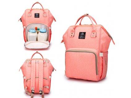 Multifunkčný batoh na kočík so zabudovaným ohrievačom a USB portom - oranžový