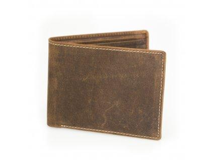 Pánska elegantná tenká peňaženka - hnedá