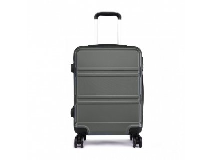 Kabínový kufor na kolieskach - šedý
