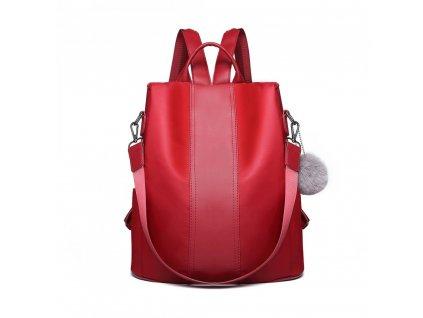 Dámsky elegantný batoh Limba - burgundská červená