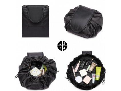 Cestovná kozmetická taštička - čierna