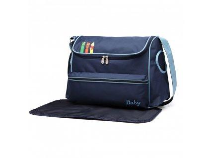 Prebalovacia taška s obrázkom - modrá