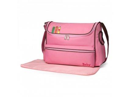 Prebalovacia taška s obrázkom - ružová