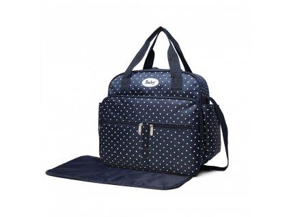 Prebalovacia taška bodkovaná - modrá