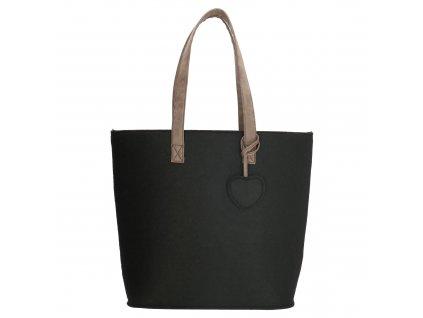 Filcová kabelka na rameno Beagles - čierna
