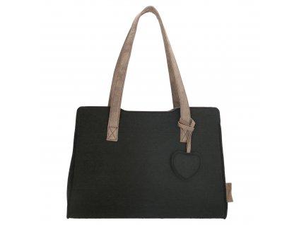 Filcová taška na rameno Beagles - čierna