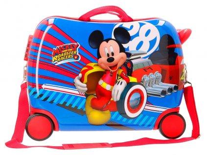 Detský kufor na kolieskach - odrážadlo - Svetový Mickey