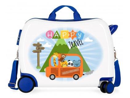 Detský kufor na kolieskach - odrážadlo - Happy Travel
