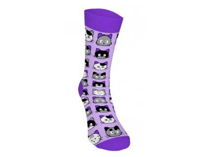 Veselé ponožky - Mačičky 2