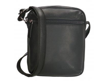 Pánska kožená taška cez rameno Houston - čierna