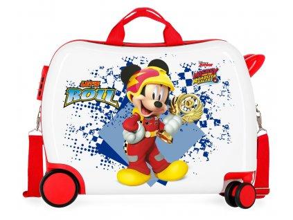 Detský kufor na kolieskach - odrážadlo - Mickey Joy