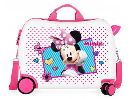 Detský kufor na kolieskach - odrážadlo - Minnie Joy