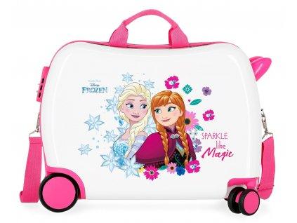 Detský kufor na kolieskach - odrážadlo - Disney Frozen Sparkle like magic