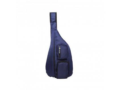 Moderný pánsky úzky batoh cez hrudník - modrý