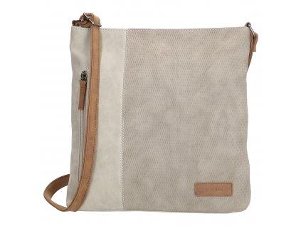 Crossbody taška Beagles Brunete - svetlo sivá