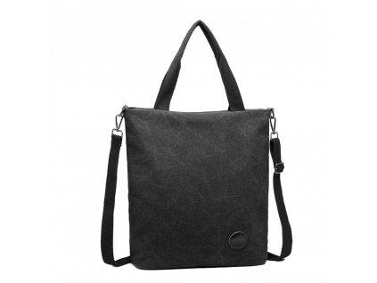 Štýlová pánska canvas taška Kono - čierna