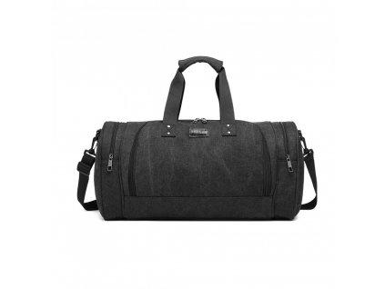 Pánska športová taška Kono Canvas Bagel - čierna