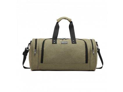 Pánska športová taška Kono Canvas Bagel - zelená
