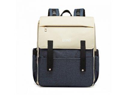 Multifunkčný MAMA batoh na kočík so zabudovaným ohrievačom a USB portom - modrý