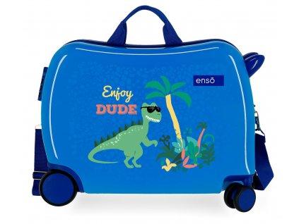 Detský kufor na kolieskach - odrážadlo - Enso Enjoy Dude