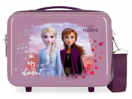 Taška / kufrík cez rameno Frozen 2 - fialový