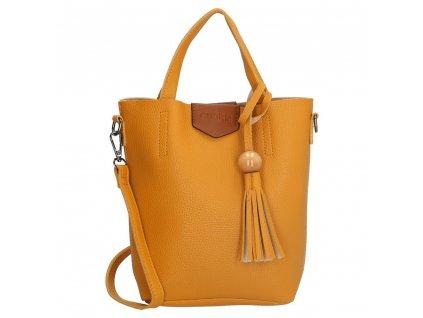 Štýlová kabelka Charm so strapcom - okrová