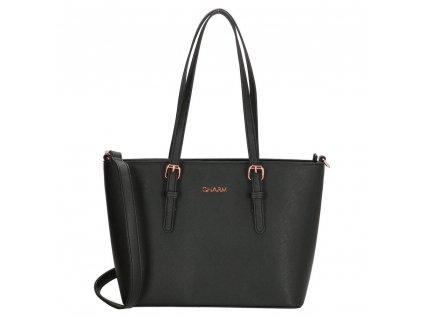 Elegantná kabelka London Marantes Middle Charm - čierna