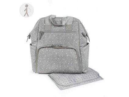 Prebalovací batoh na kočík Walking Mum Dreamer - sivý