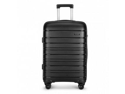 Cestovný kufor na kolieskach Classic Colection - čierny