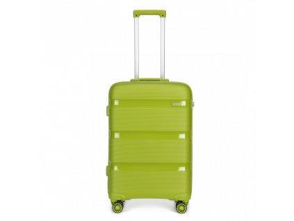 Cestovný kufor na kolieskach Classic Colection - zelený
