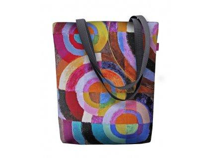 Designová taška na rameno Sunny - Kruhy