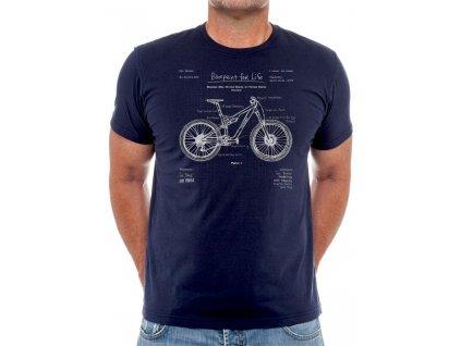 Tričko BluePrint Mountain Bike (Plány Bicyklu)