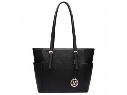 Dámska elegantná kabelka Linda - čierna