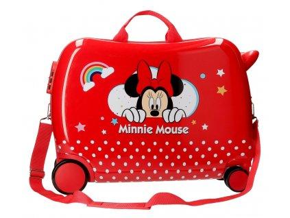 Detský kufor na kolieskach - odrážadlo - Minnie Rainbow S 2