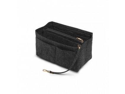 Filcový organizér do kabelky - veľký - tmavo sivý