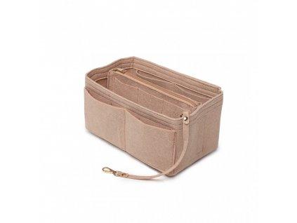 Filcový organizér do kabelky - veľký - khaki