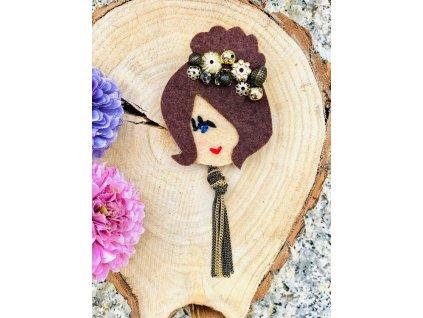 Handmade Filcová Brošňa Littletinka Bohémia