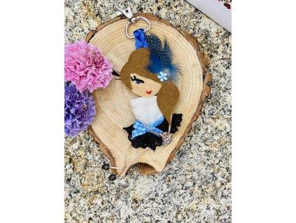 Handmade Filcový prívesok na kabelku Littletinka Monique