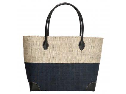 Plážová taška / košík Rafia Mand - čierna