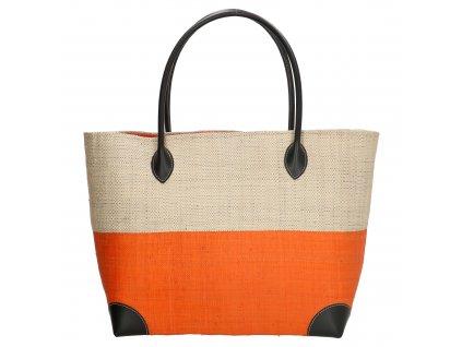 Plážová taška / košík Rafia Mand - oranžová