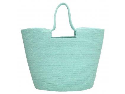 Veľká plážová taška PE-Florence Sunset - mint