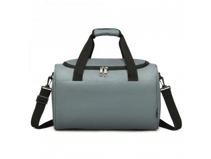 Príručná cestovná taška KONO Oxford - sivá