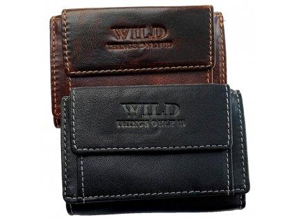 Pánska kožená vrecková peňaženka Wild väčšia