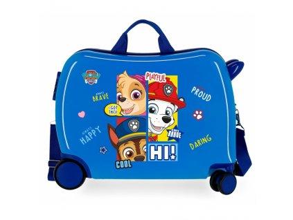 Detský kufor na kolieskach - odrážadlo - Paw Patrol Blue