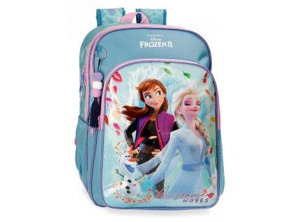 Školský dvojkomorový batoh Frozen 2 Awesome Moves - hranatý
