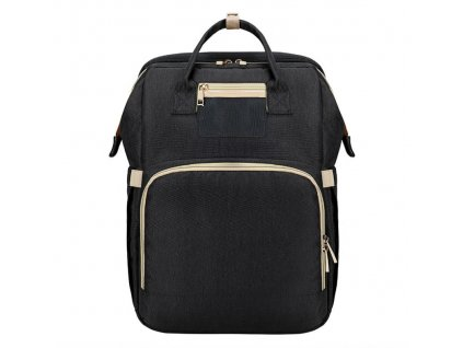Prebalovací batoh na kočík so zabudovanou postieľkou - čierny