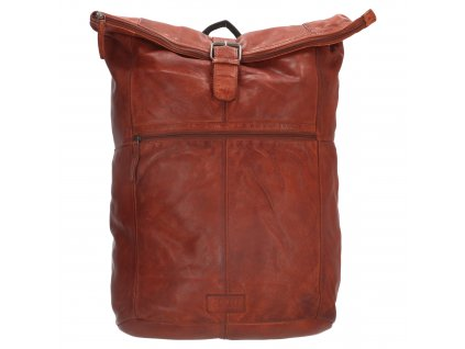 "Batoh z pravej kože Old West Paint Rock na notebook 15,6"" (38 cm) - koňakový"