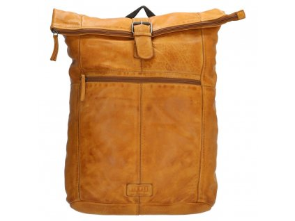 "Batoh z pravej kože Old West Paint Rock na notebook 15,6"" (38 cm) - okrový"