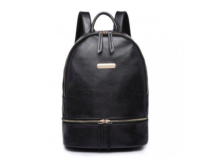 Štýlový čierny batoh Miss Lulu