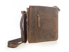 Luxusná kožená pánska taška hnedá